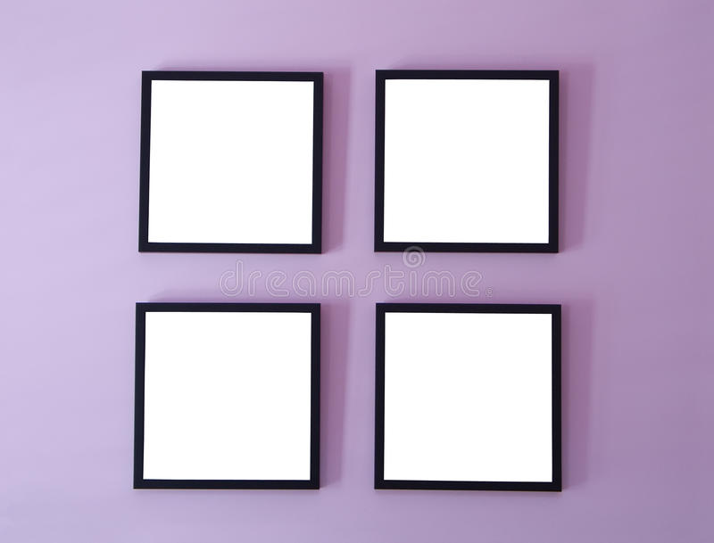 Frames On Wall four frames on wall royalty free stock images - image: 9862889