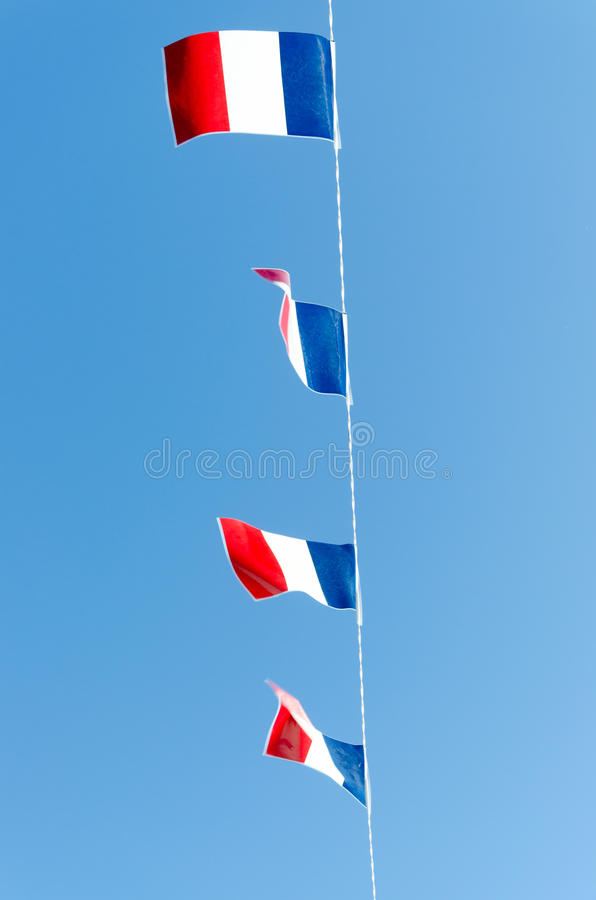 Four french flags stock photo