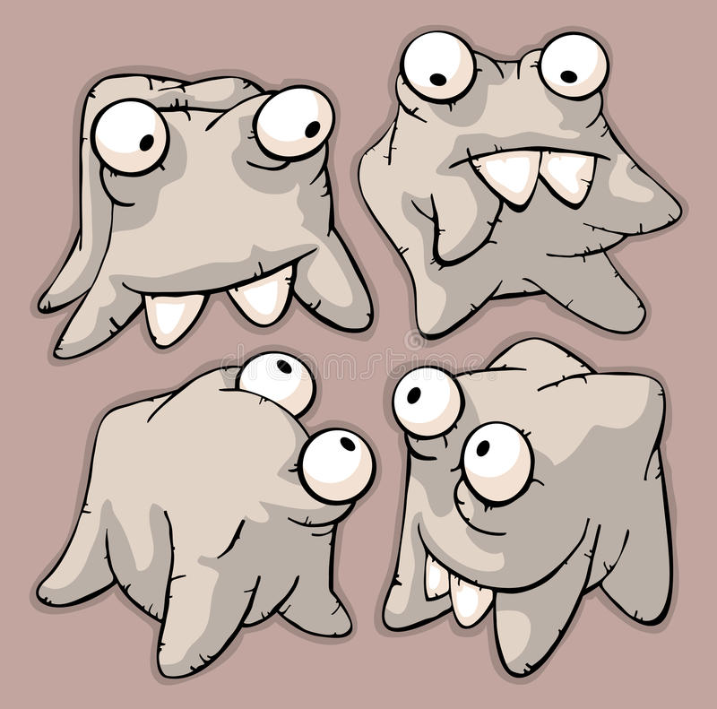 Download Four funny cute teeth stock illustration. Image of smiling - 25256526