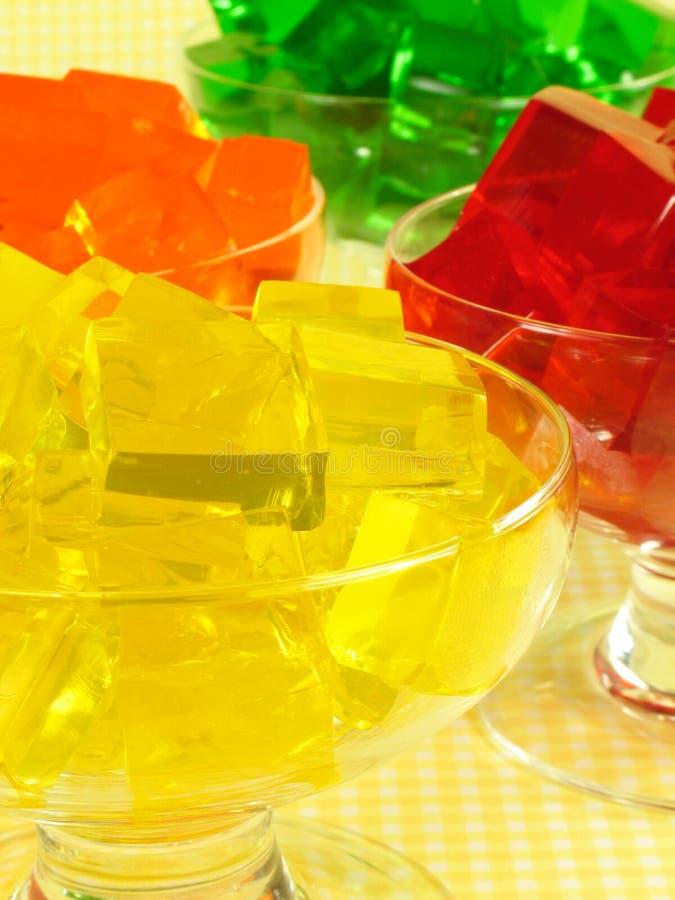Four Gelatin Desserts stock images