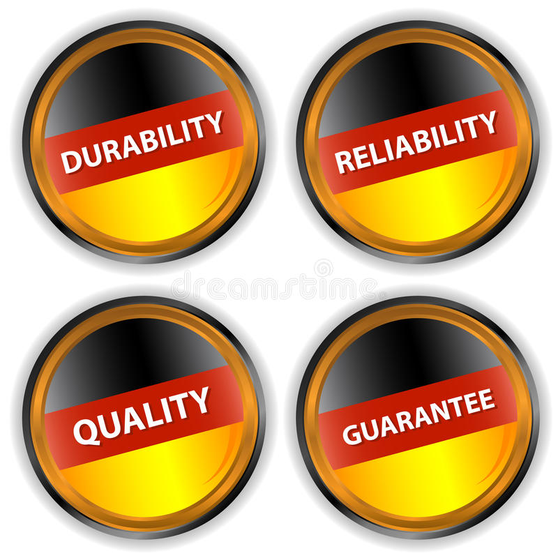 Four German Labels Royalty Free Stock Image