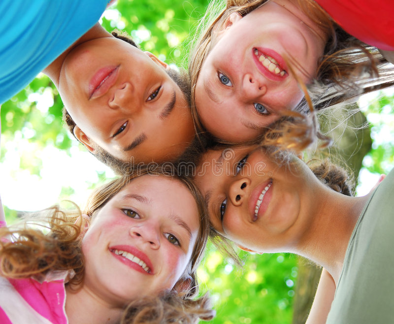 Four girls stock images