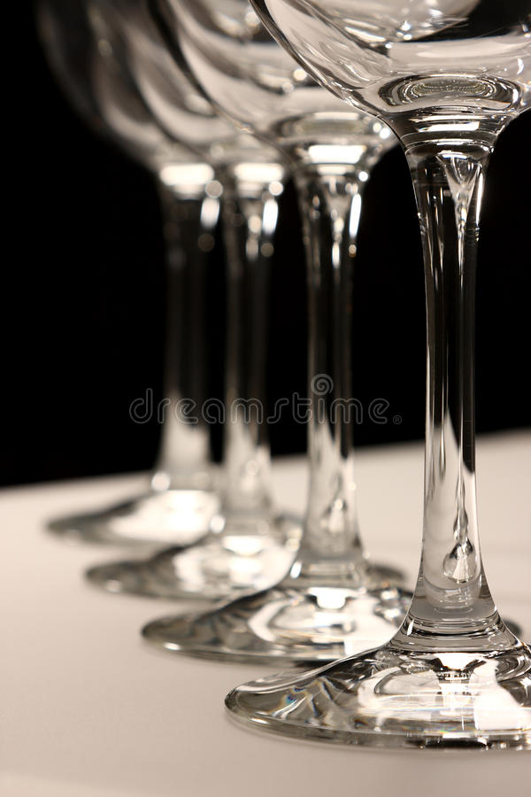 Four Glasses royalty free stock image