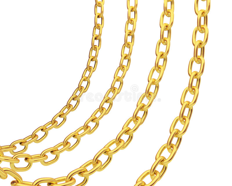 Four gold chains vector illustration