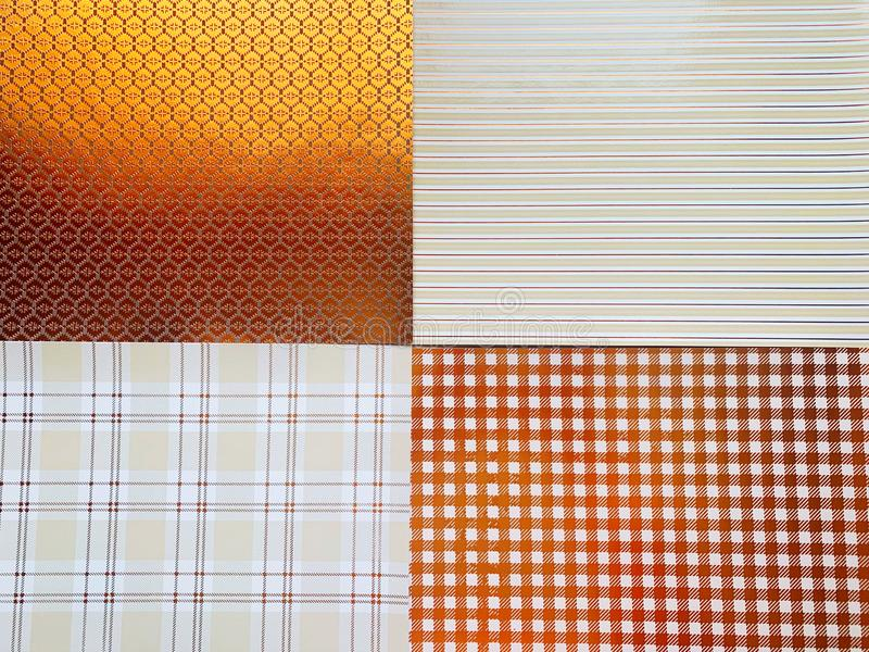 Four Gold and White Squares Background royalty free stock photography