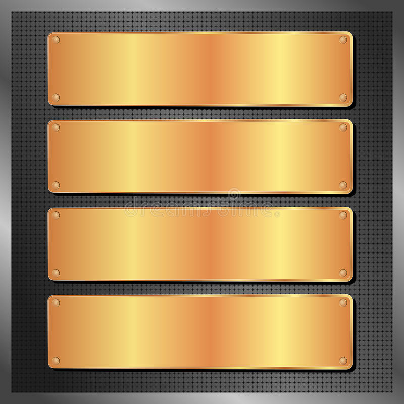 Golden Plates Stock Photography