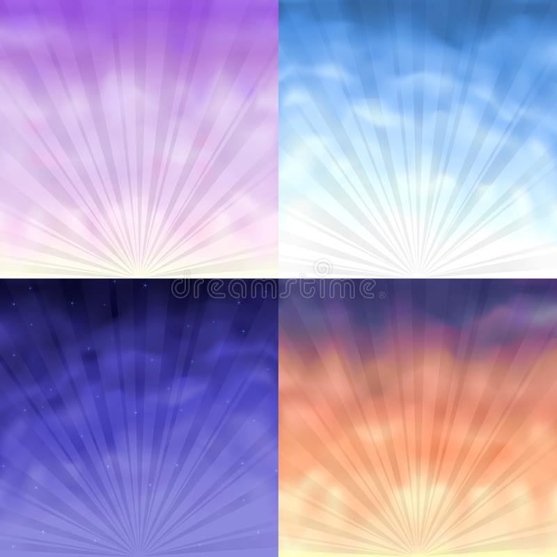 Four Gradient Mesh Backgrounds Stock Photography