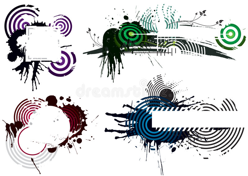 Four Grunge Designs royalty free illustration