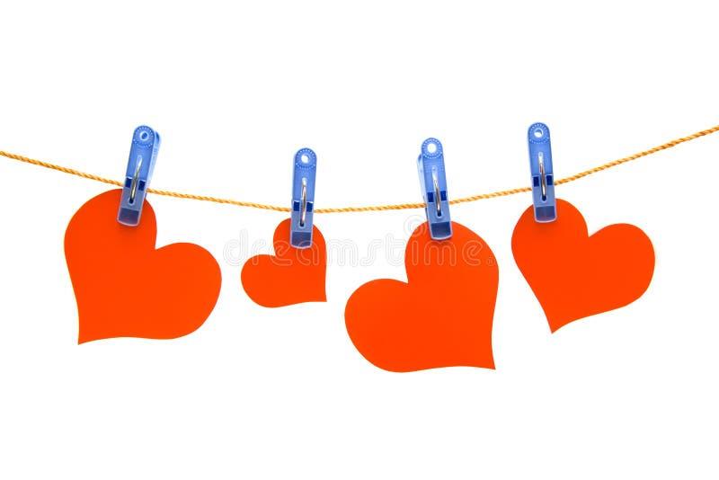 Four hearts royalty free stock photo