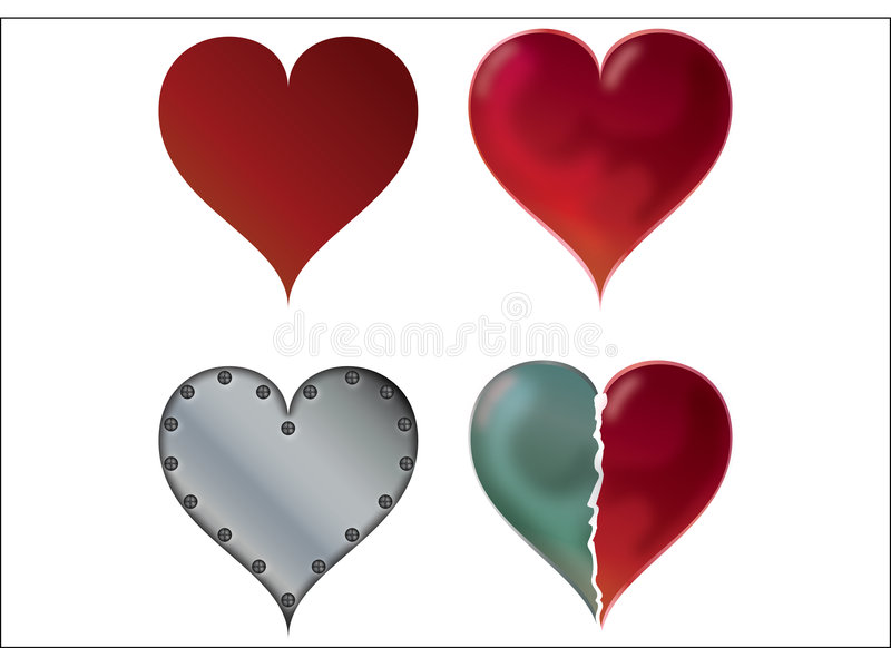 Download Four hearts stock vector. Image of hearts, valentine, simple - 7946387
