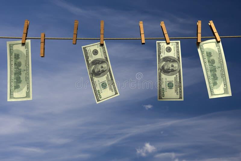 Download Four Hundred Dollar Bills Hanging On A Clothesline Stock Illustration - Image: 12324641
