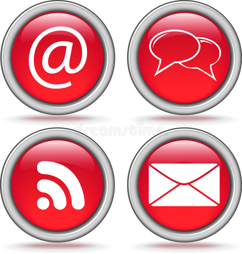 Free Four Internet Icons Royalty Free Stock Images - 18960819