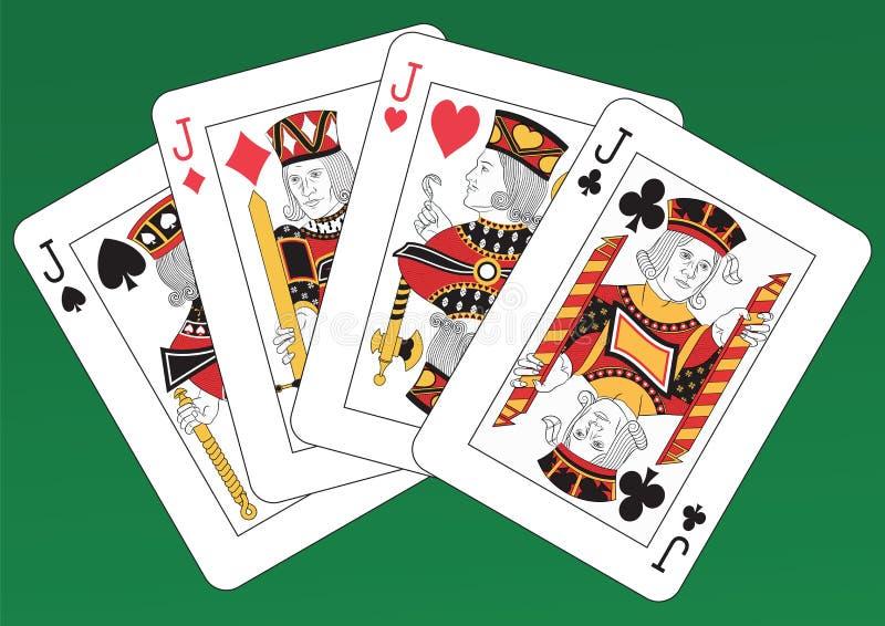 Download Four Jacks stock vector. Image of playing, gambling, casino - 38748028