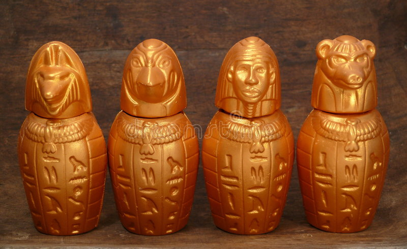 Download Four jugs from Africa stock photo. Image of hapi, pharao - 6906802
