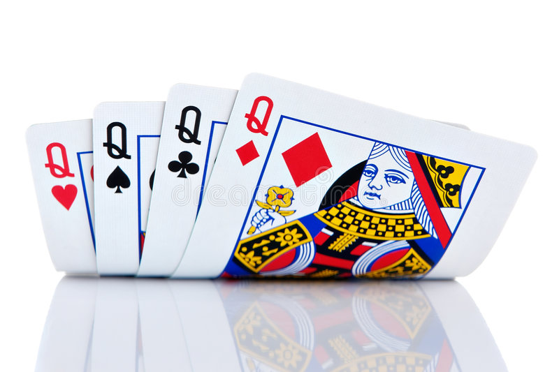 Four of a kind royalty free stock image