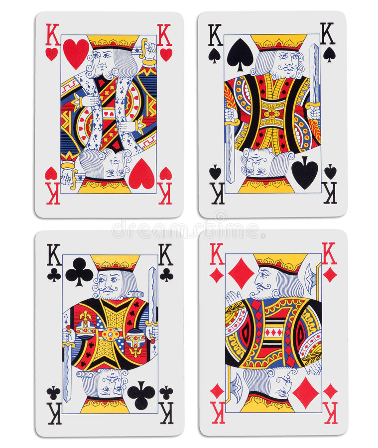 Four kings. On white stock images