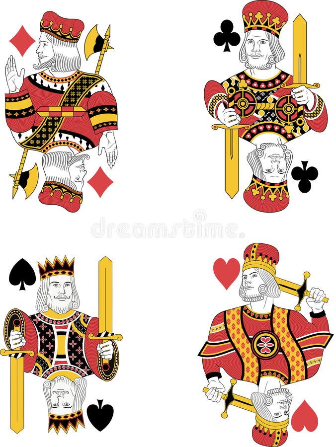 Four Kings no cards stock illustration