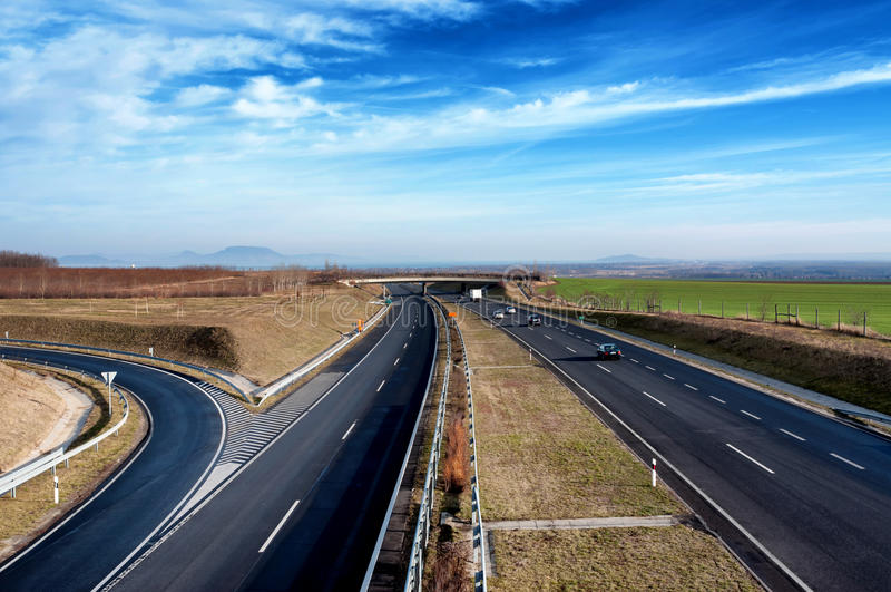 Download Four-lane Motorway Leads Across The Country Stock Image - Image of across, global: 22682655