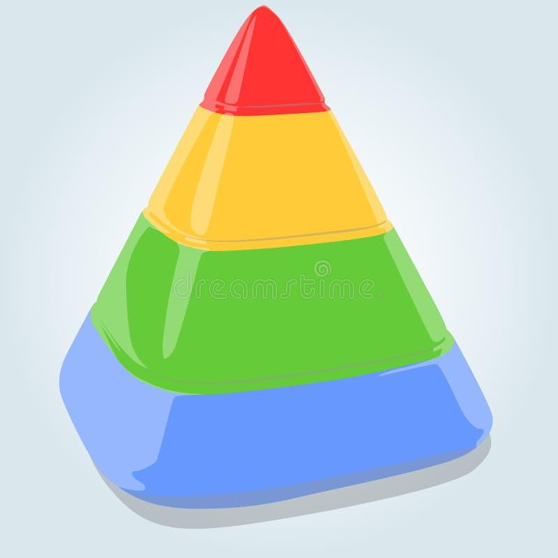 Four layers pyramid royalty free illustration