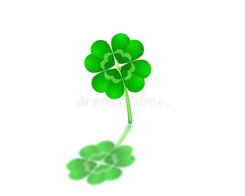 Download Four leaf Clover stock illustration. Image of background - 20235476