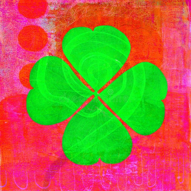 Four Leaf Clover stock illustration