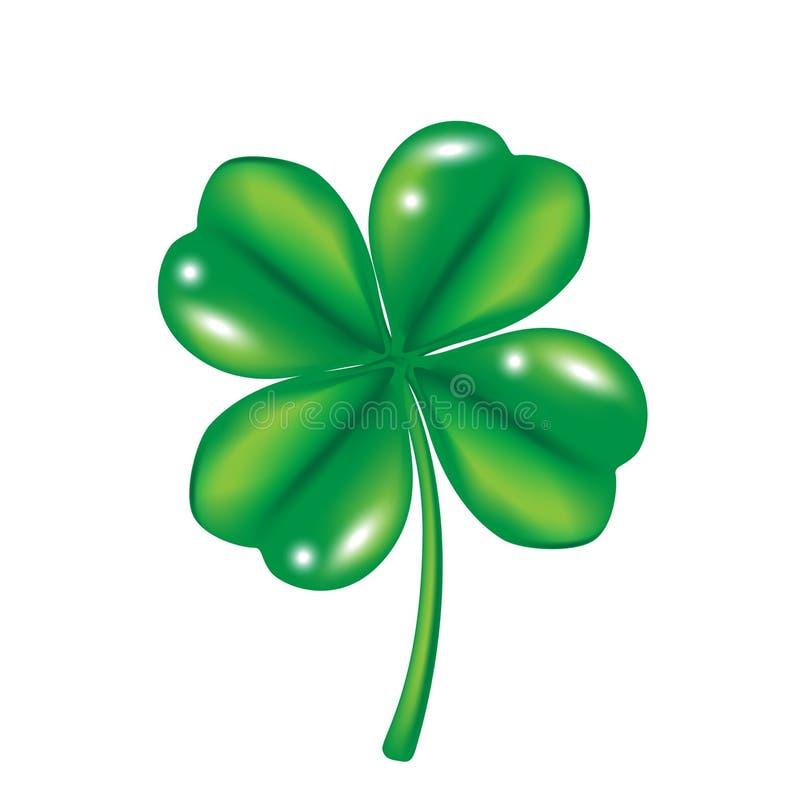 Four leaf clover royalty free illustration