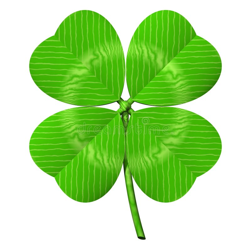 Four Leaf Clover stock illustration