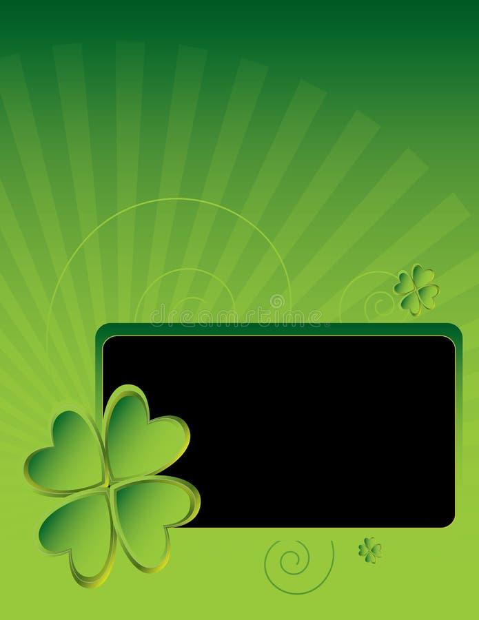 Four leaf clover background 3 vector illustration
