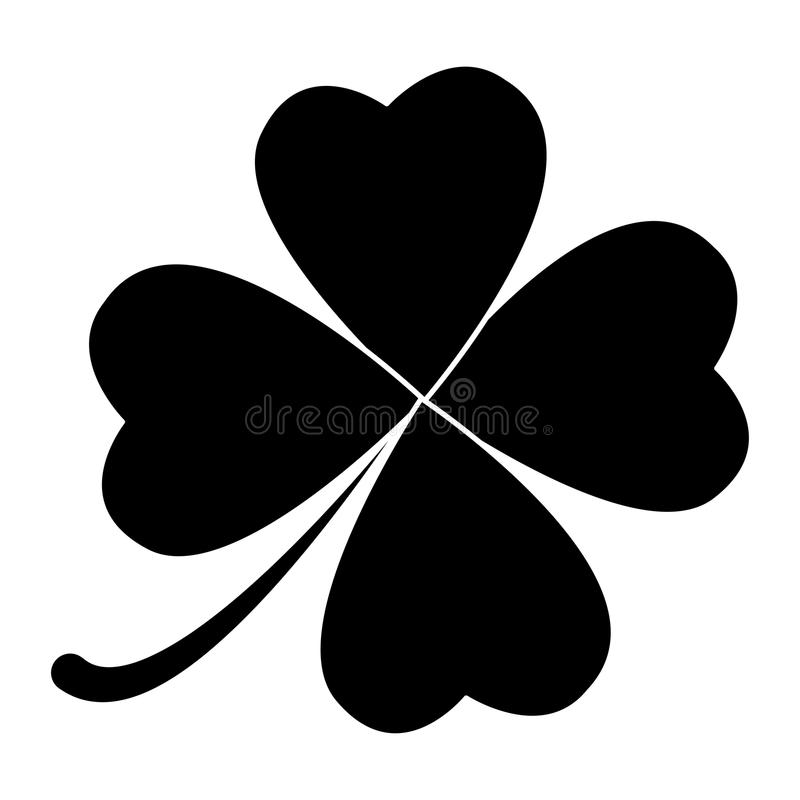 Four leaf clover design isolated on white background.  royalty free illustration