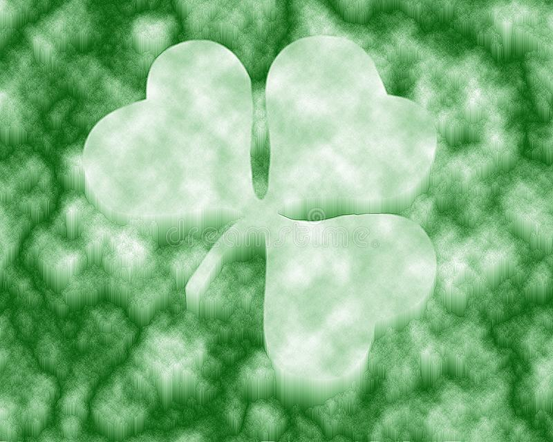 Four Leaf Clover / ice stock image