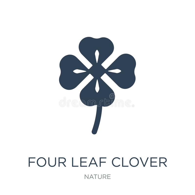 four leaf clover icon in trendy design style. four leaf clover icon isolated on white background. four leaf clover vector icon vector illustration