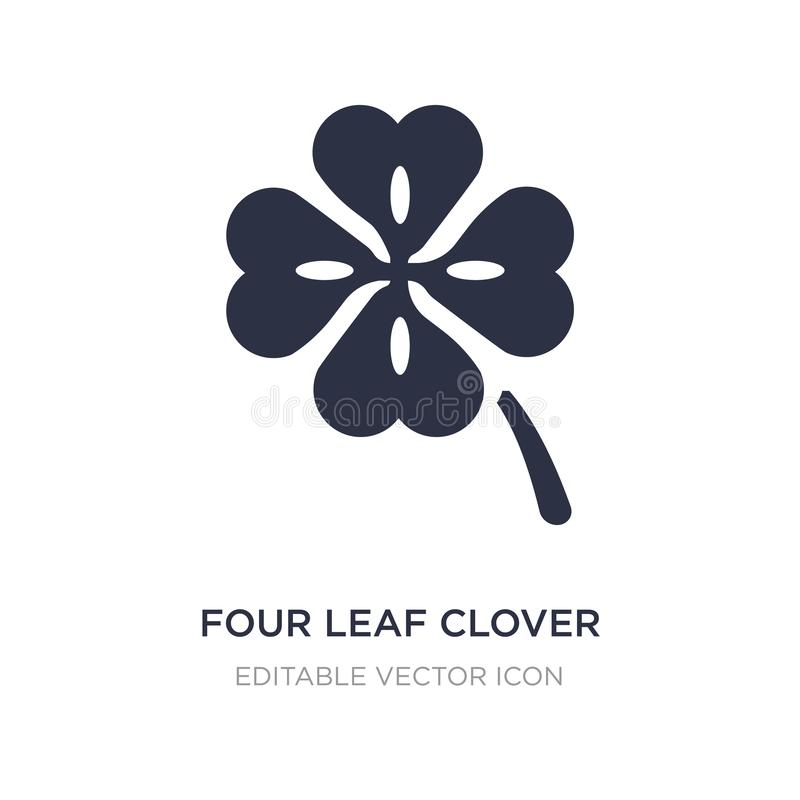 Four leaf clover icon on white background. Simple element illustration from Nature concept. Four leaf clover icon symbol design royalty free illustration