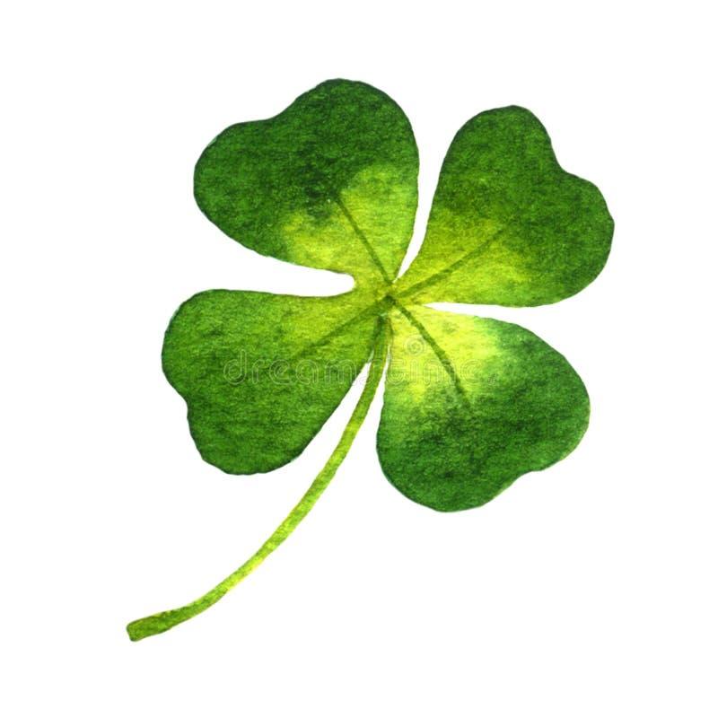 Four-leaf clover stock illustration