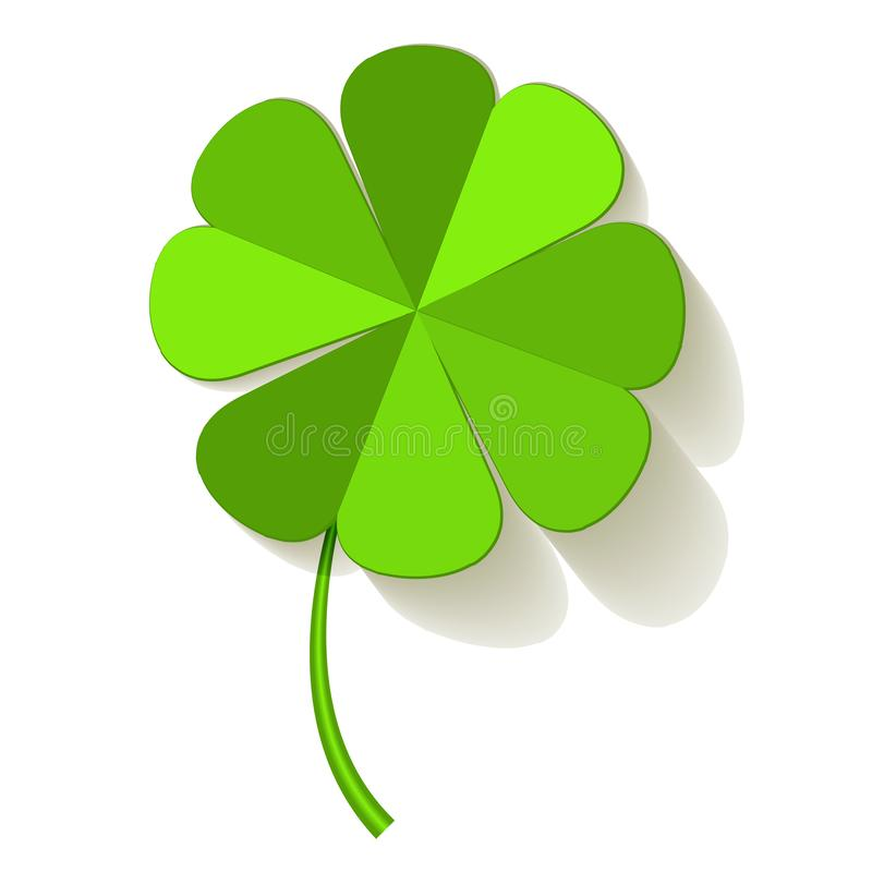 Four Leaf Clover on a white background. Four Leaf Clover on a white background vector illustration
