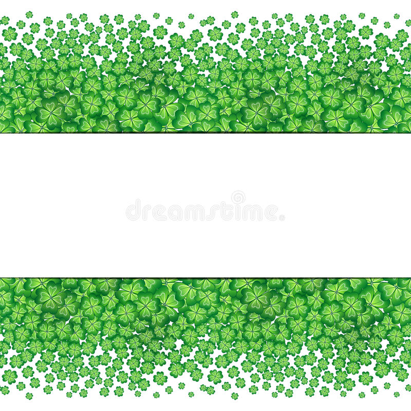 Four Leaf Clovers Abstract Template. St. Patrick\'s Day Background ...