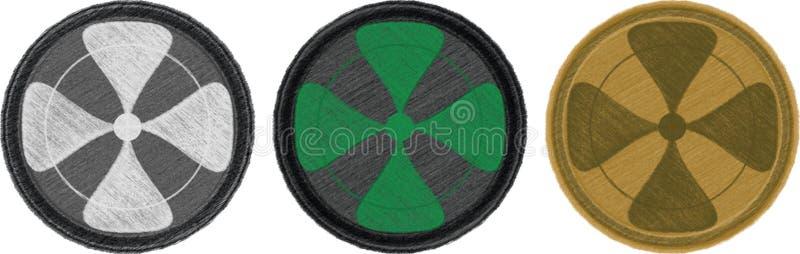 Four-leaf combat patches stock illustration