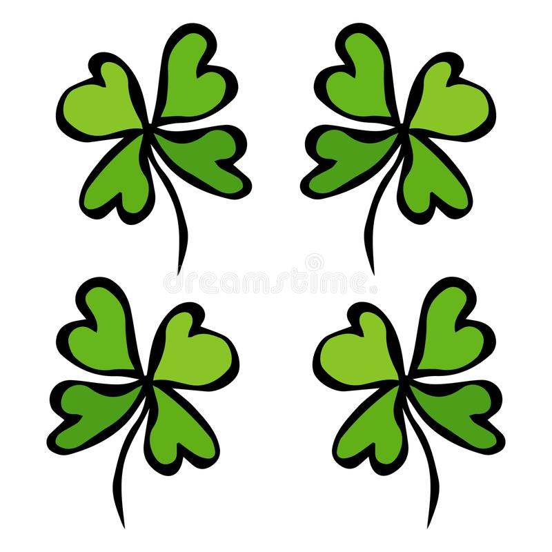 Four Leaf Green Clover Luck Success Symbol Good Luck Irish Luch
