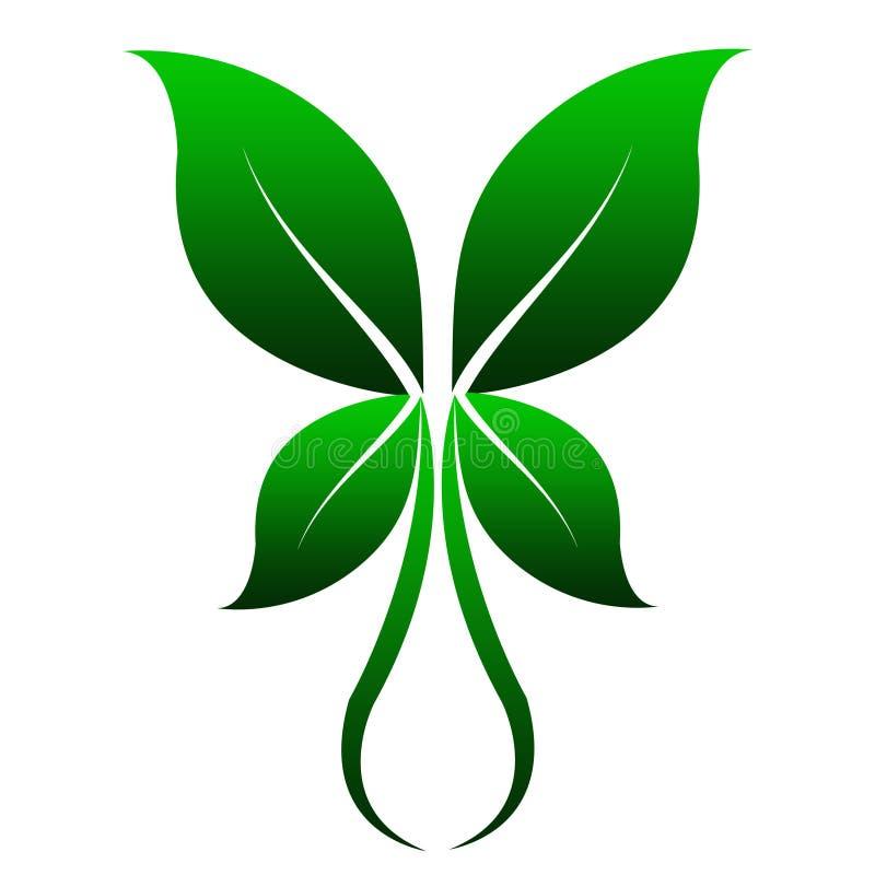 Four Leafs Design Simetris For Logo vector illustration