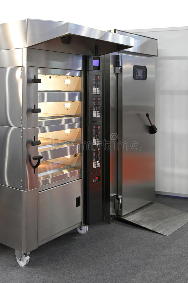 Bakery oven stock photography