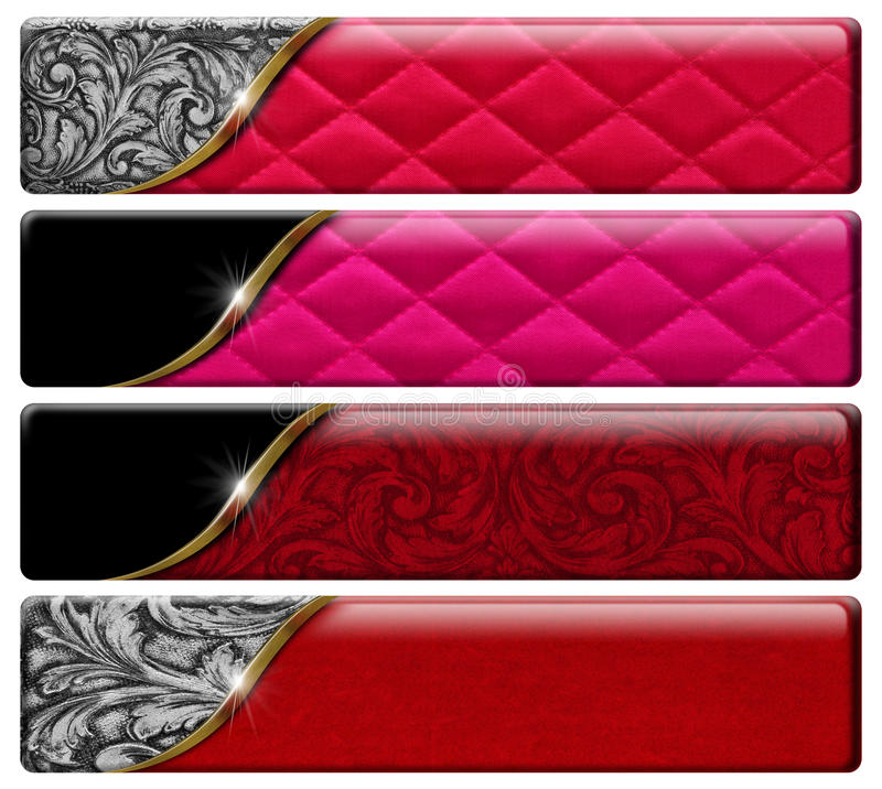 Download Four Luxury Headers With Clipping Path Stock Illustration - Image: 32411582