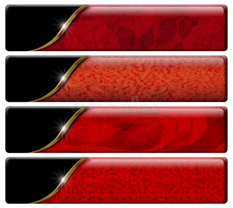 Four Luxury Headers with clipping path royalty free illustration
