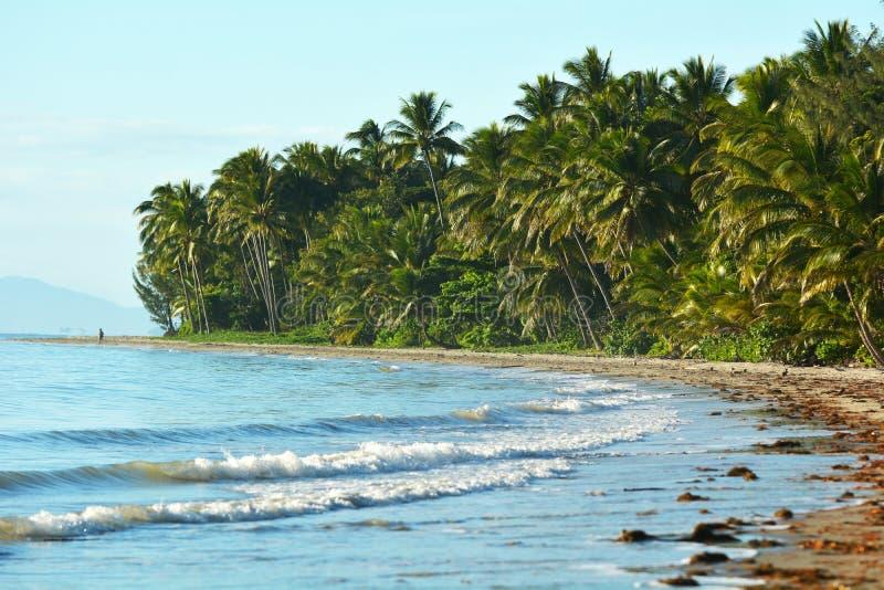 Four Mile Beach in Port Douglas Queensland, Australia. Landscape of Four Mile Beach in Port Douglas at the tropical north of Queensland, Australia stock images