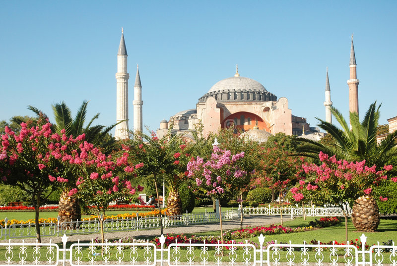 Download Four minaret mosque stock photo. Image of orange, light - 2078370