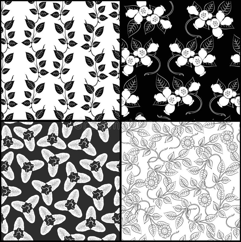 Download Four monochrome pattern stock vector. Image of note, copybook - 35624480