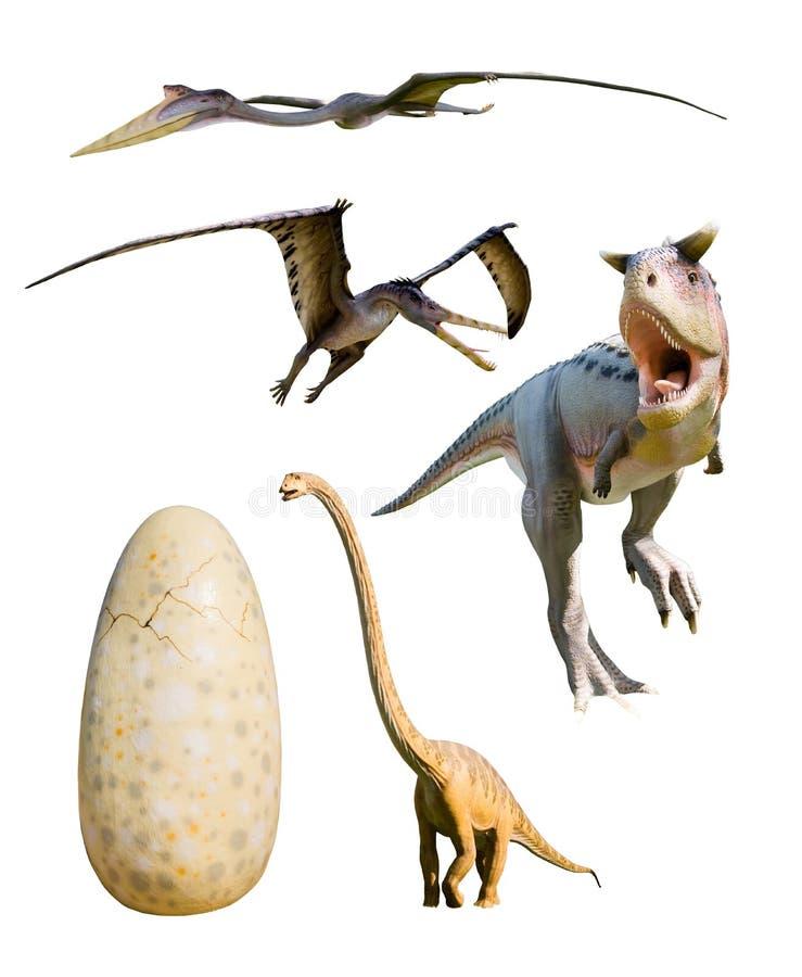 Four most popular dinosaurs - vector illustration