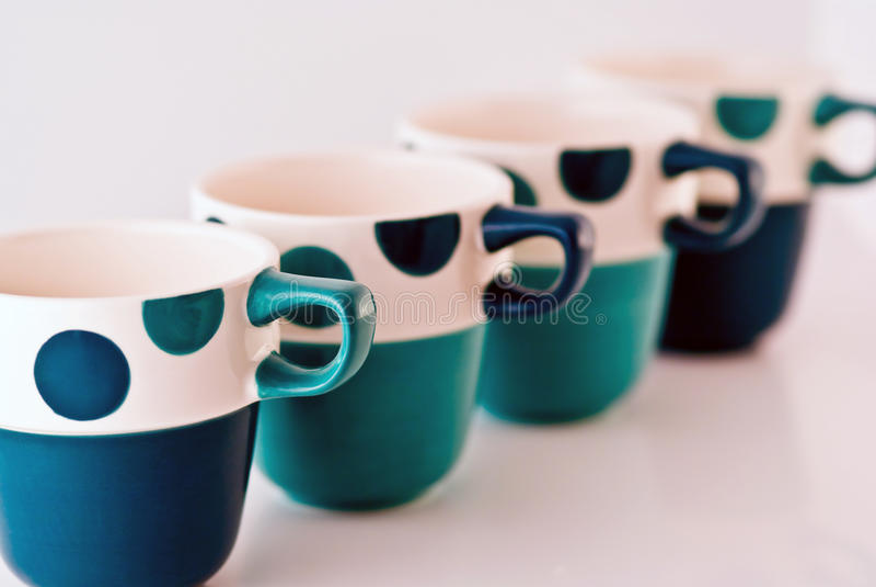 Four Mugs Royalty Free Stock Photos