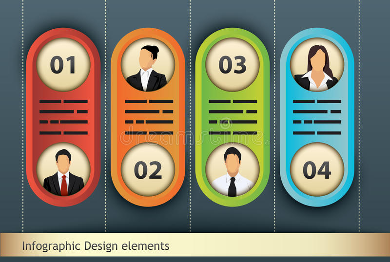 Four options stock illustration