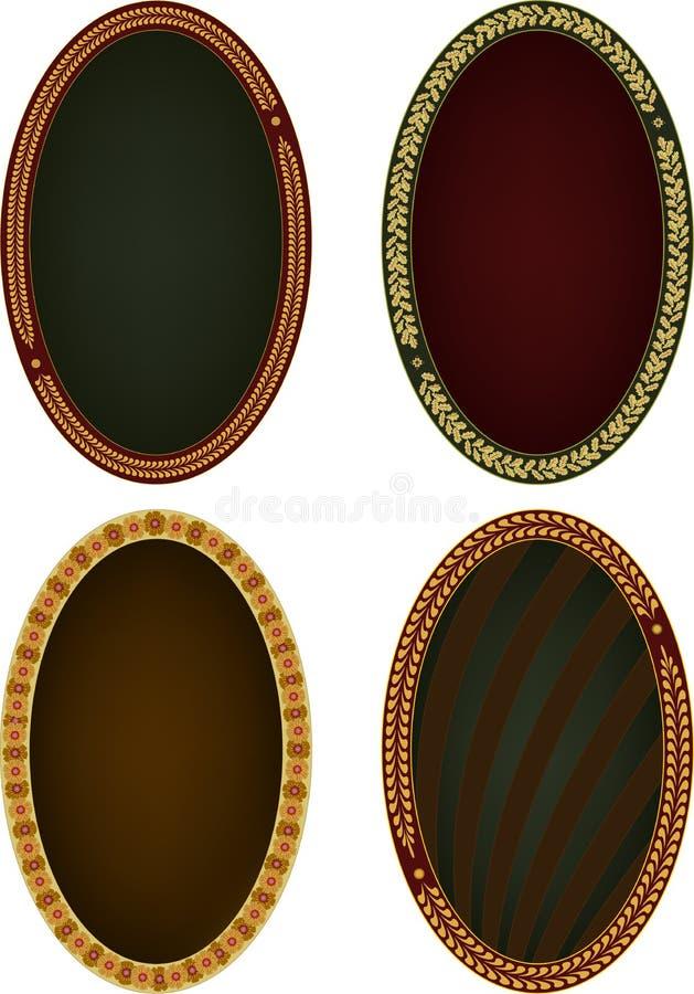 Four oval frames