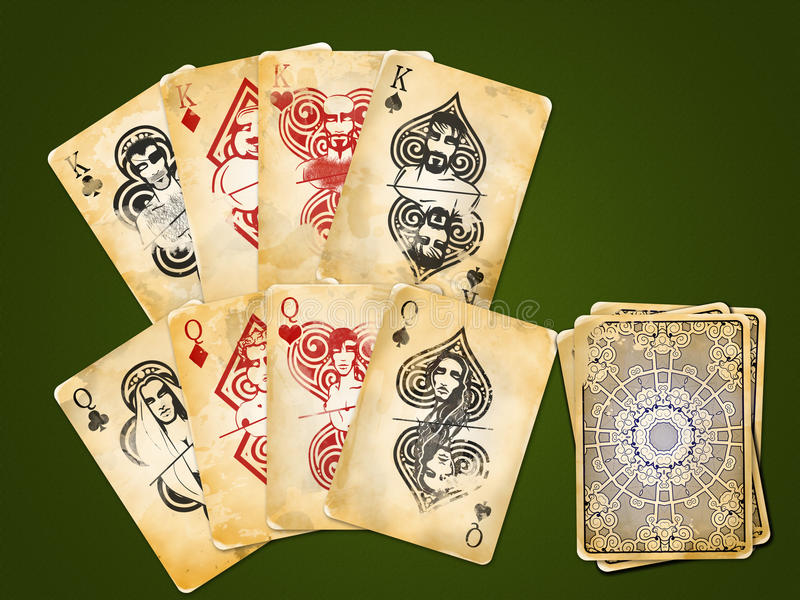Four Pairs - Kings And Queens Stock Photography
