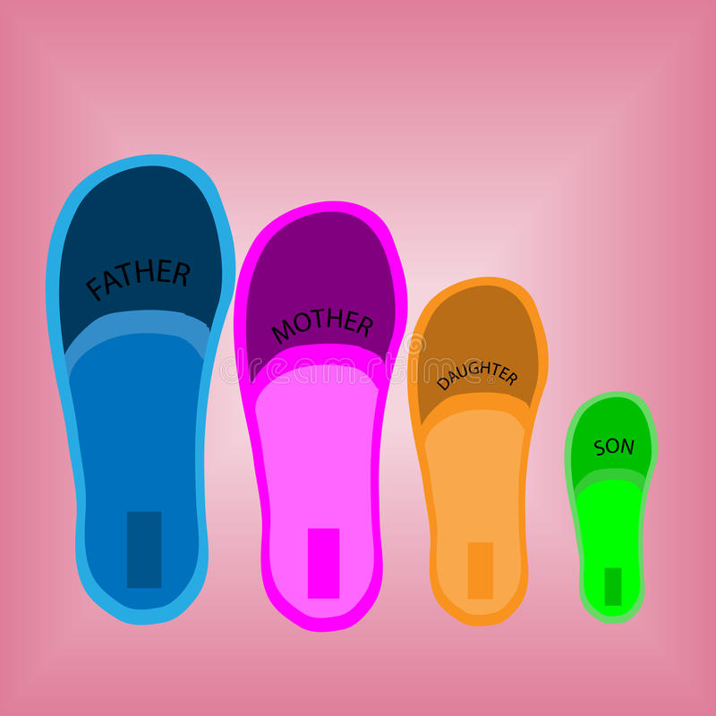 Four pairs of shoes royalty free stock photo